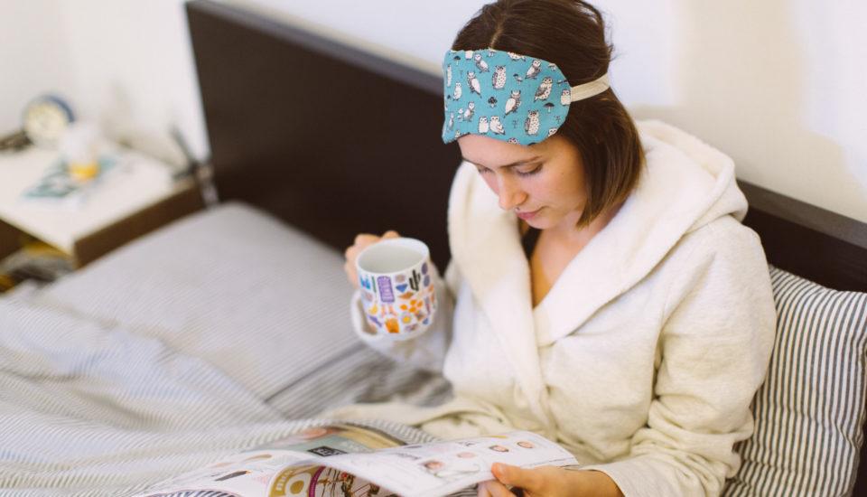 DIY spací maska pro dobrý spánek
