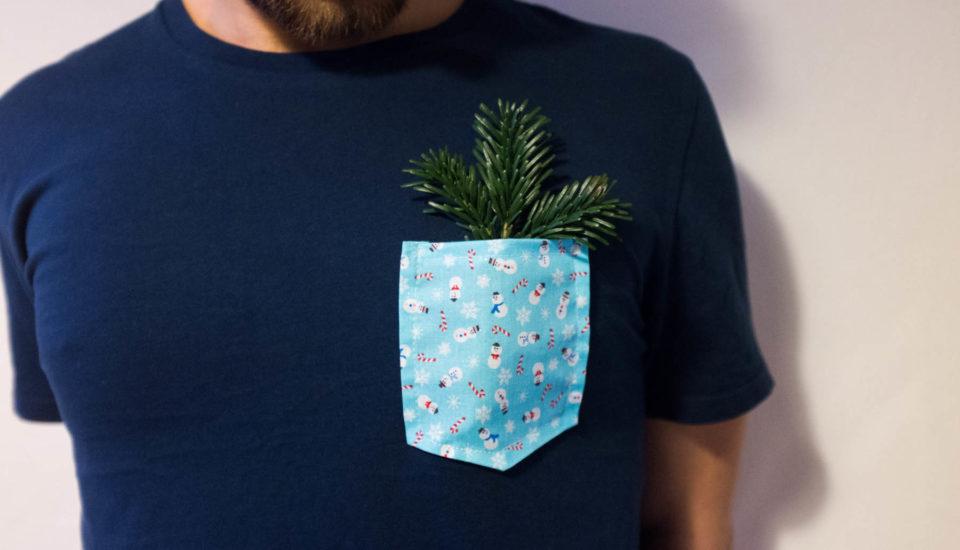 Tričko svánoční kapsou