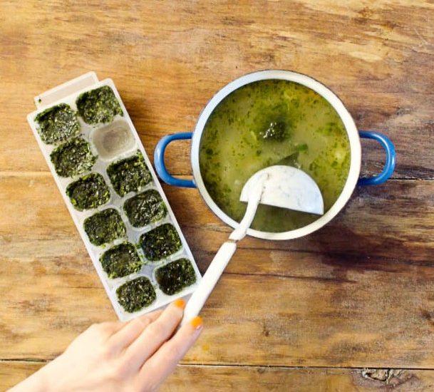 Zdravý trik: Mražené bylinkové kostky