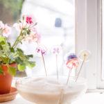 Květovaná lízátka