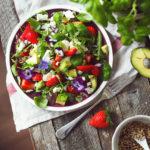 Jahodový salát naslano