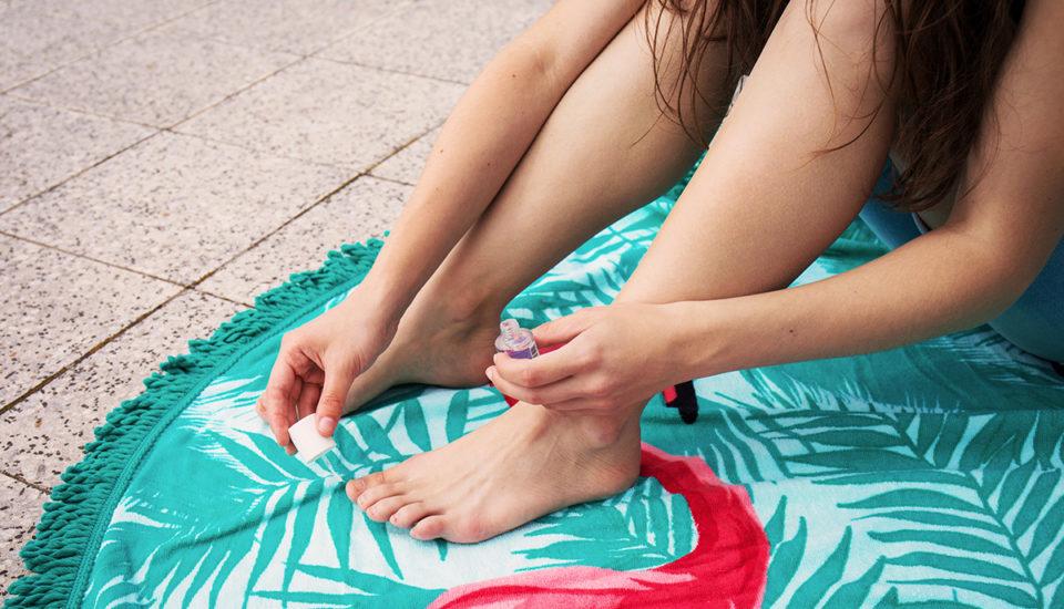 Krásné nohy dokonce ivžabkách