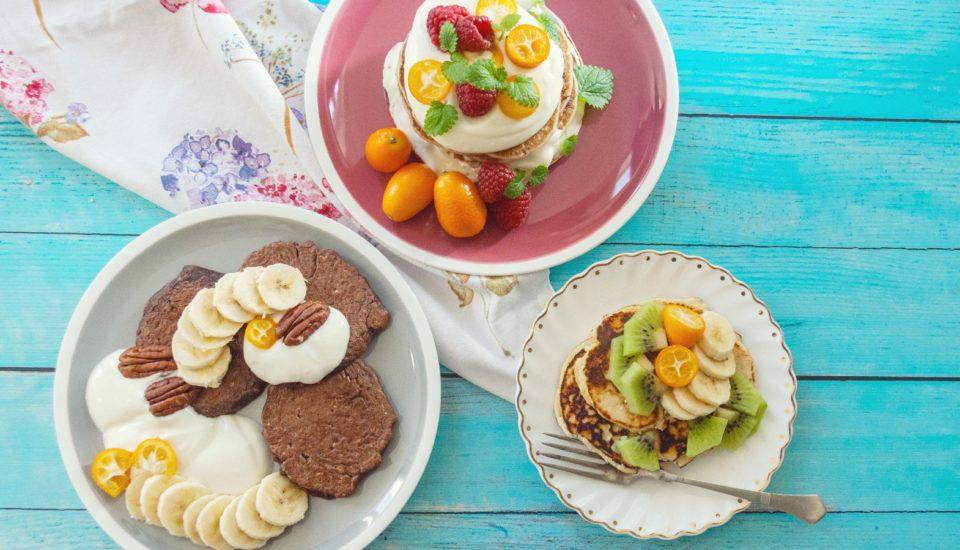 Královská nedělní snídaně se 3 neobvyklými druhy lívanců