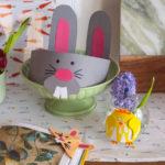 Velikonoční DIY sdětmi: Čelenka, váza jako kuře akráličí záložka