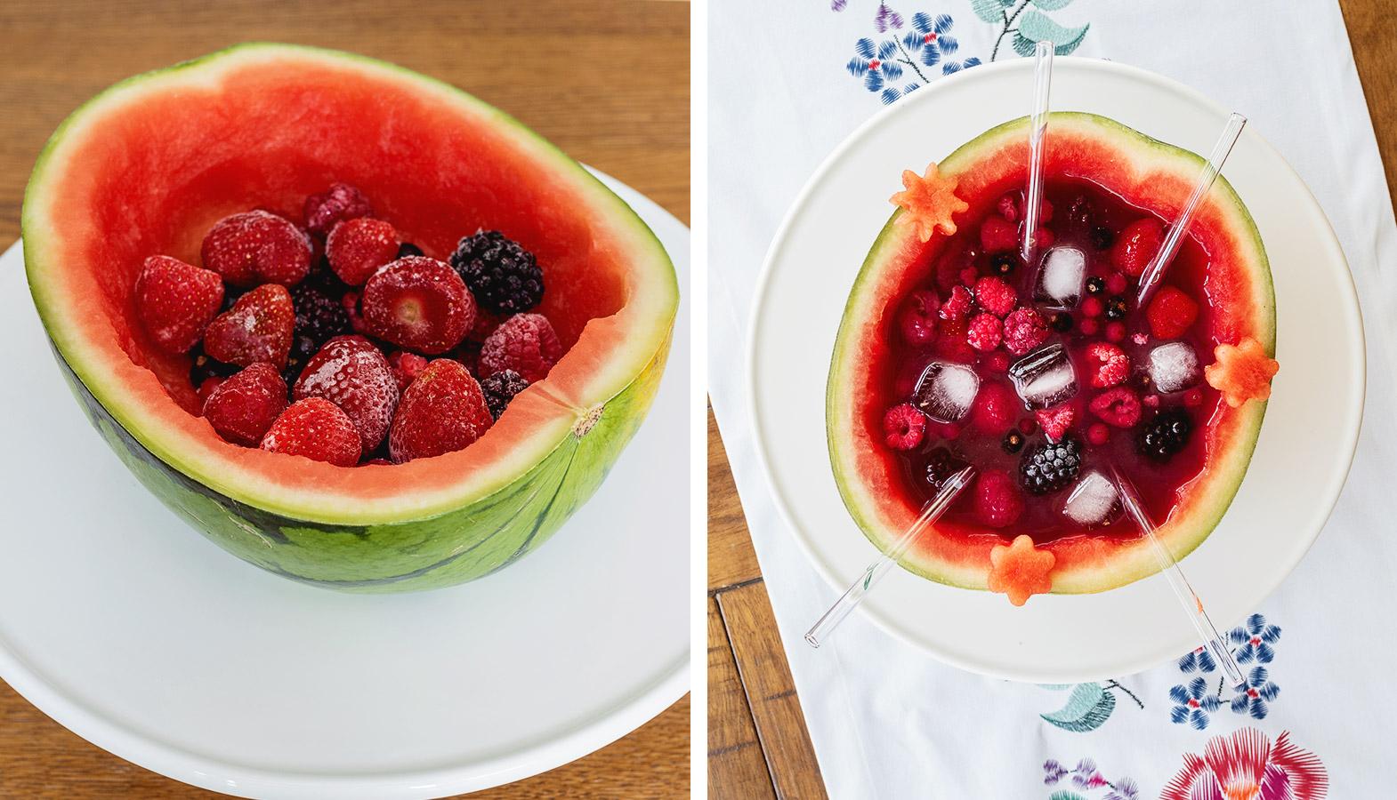 koktejl v melounu