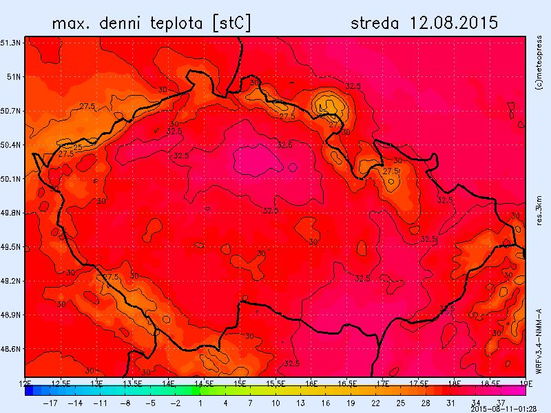 max. teplota