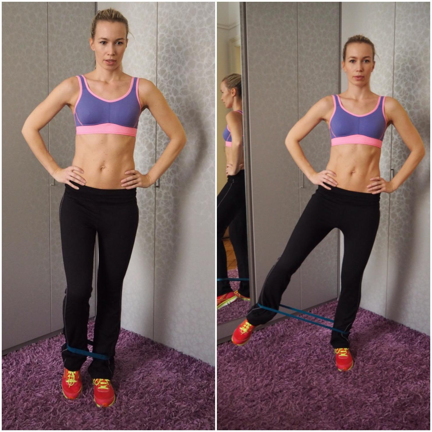 cvičení s gumou záda