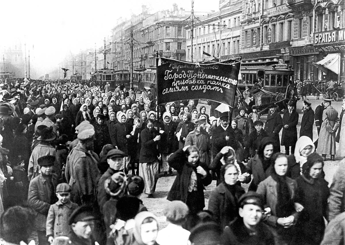 Petrograd, Russian Republic. Women demand to increase dry and wet rations for soldiers' families. Reproduced by TASS (Photo by TASS via Getty Images)