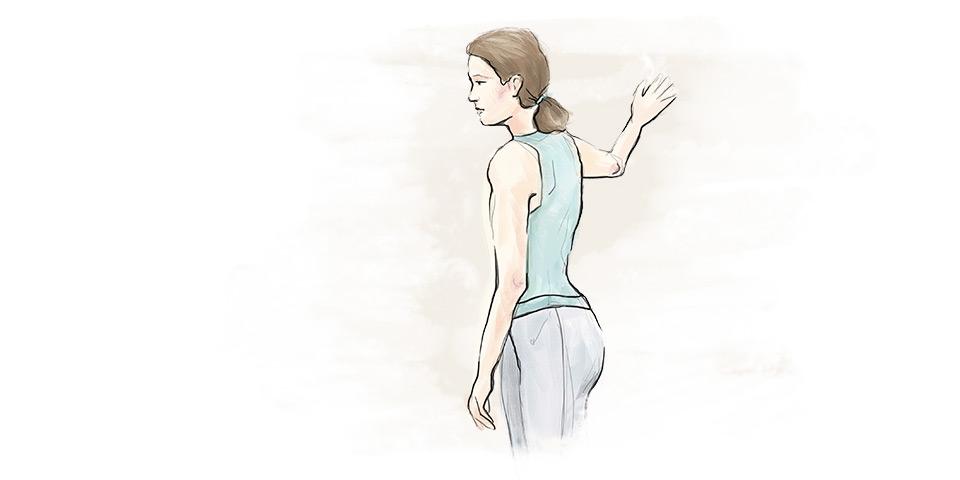 Cvik pro uvolnění prsních svalů
