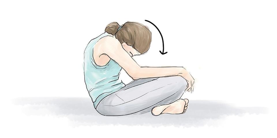 Cvik na prodýchání bolesti beder
