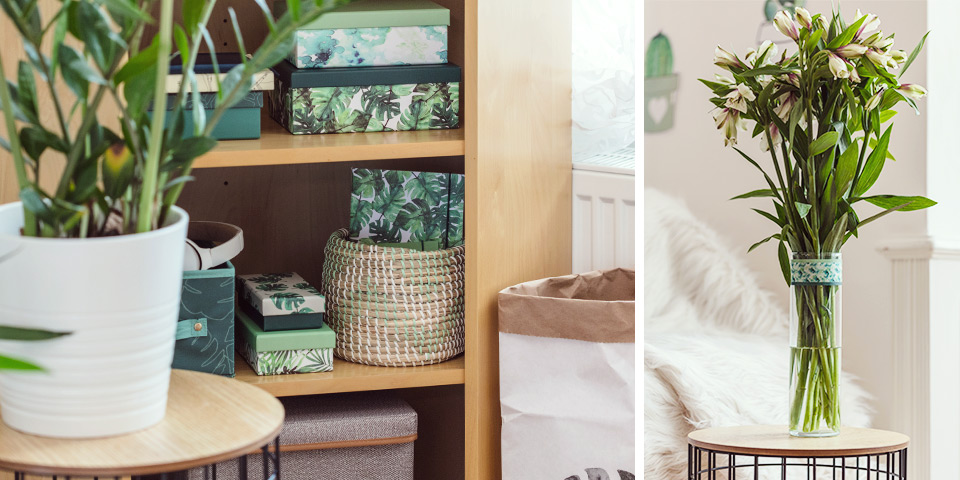 Detaily v zelených odstínech rozzáří celý byt