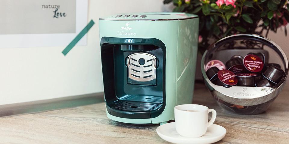 Kávovar Cafissimo Mini Pastels v zelené barvě